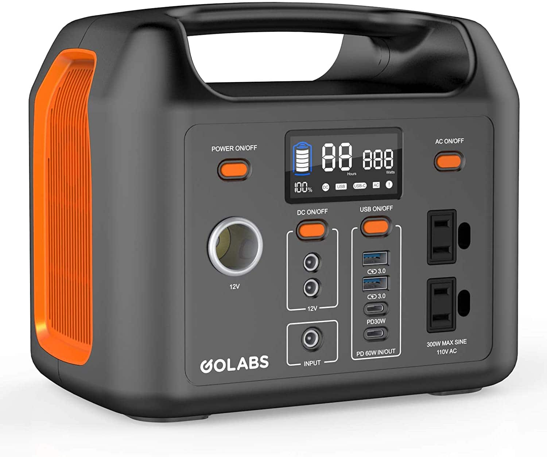 GOLABS Portable Power Station 299Wh LiFePO4 Battery Backup - $200 at Golabs Inc via Amazon