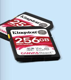 New Kingston Canvas React SD Cards for DSLR Use! 32GB $20.80 64GB $36.40 128GB $71.50 256GB $153.40