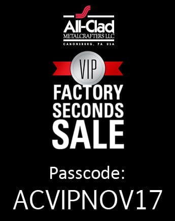 All-Clad Factory Seconds Sale extended 8 hours with 20% OFF 1 ITEM