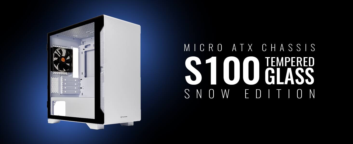 Thermaltake S100 Tempered Glass Snow Edition Micro-ATX Mini-Tower Computer Case - $60 + free shipping $59.99