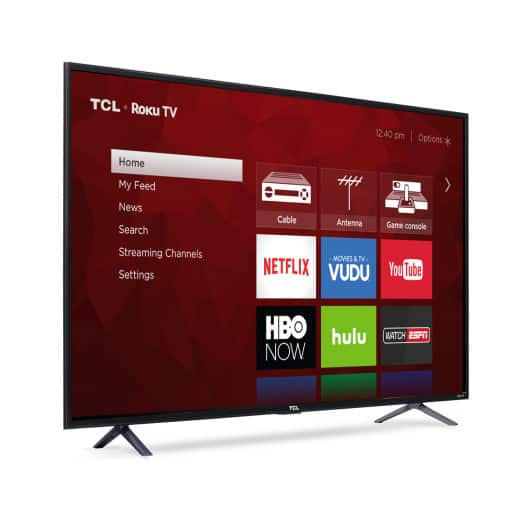 "55"" TCL 55S401 4K UHD HDR Roku Smart LED HDTV Refurbished $330.07"