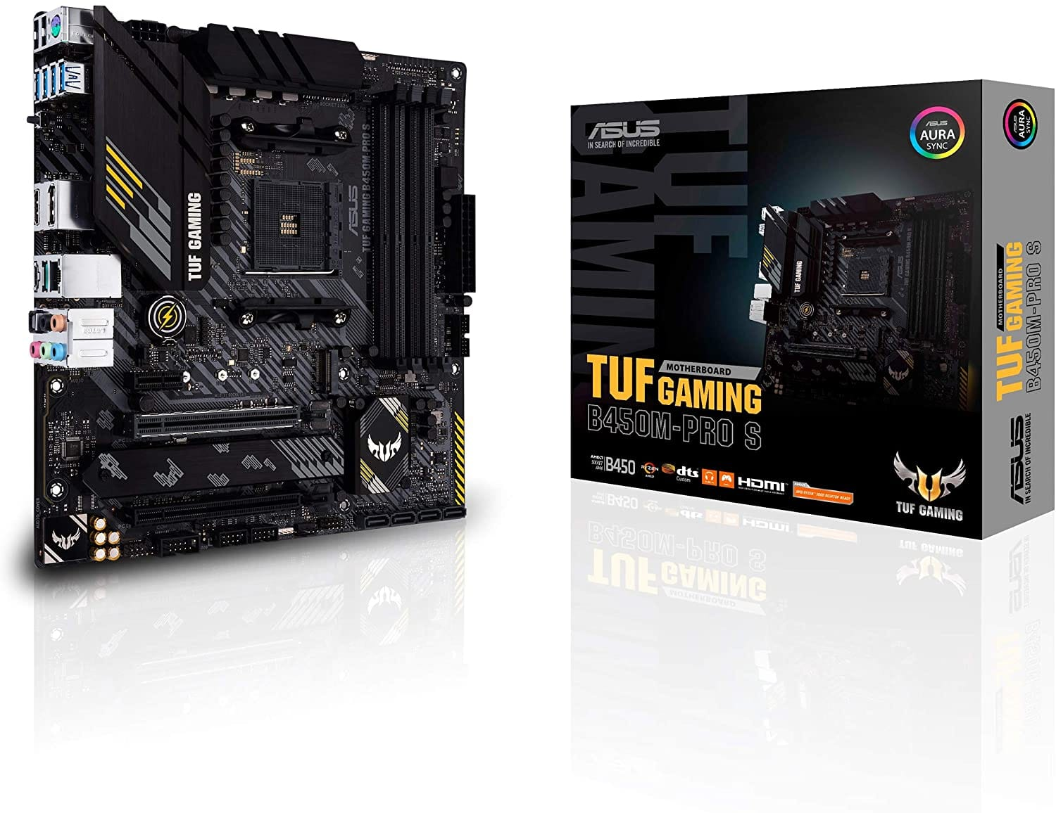 ASUS TUF Gaming B450M-PRO S AMD AM4 (3rd Gen Ryzen Micro ATX Gaming Motherboard (8+2 Power Stages, $77.99