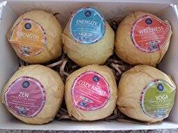 Bath Bombs, 6 pack of Organic bath bombs 12.99 free shipping with Prime $12.99