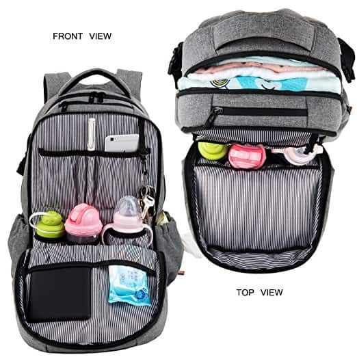 Galaxi Choice HapTim Multi-function Large Baby Diaper Backpack W/Stroller Straps  Amazon $25 Shipped