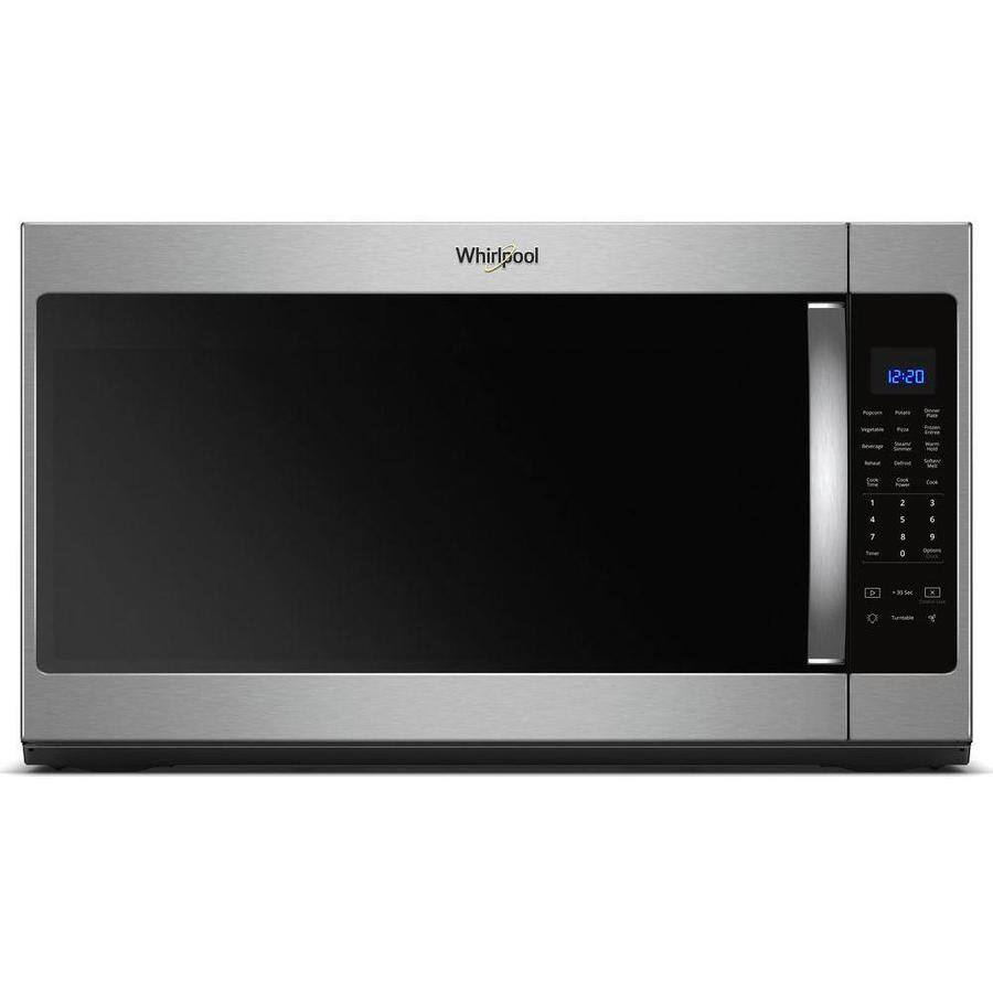 Whirlpool Over Range Microwave $199 Lowe's   Fingerprint resistant Stainless, 2.1 CF Size, high end