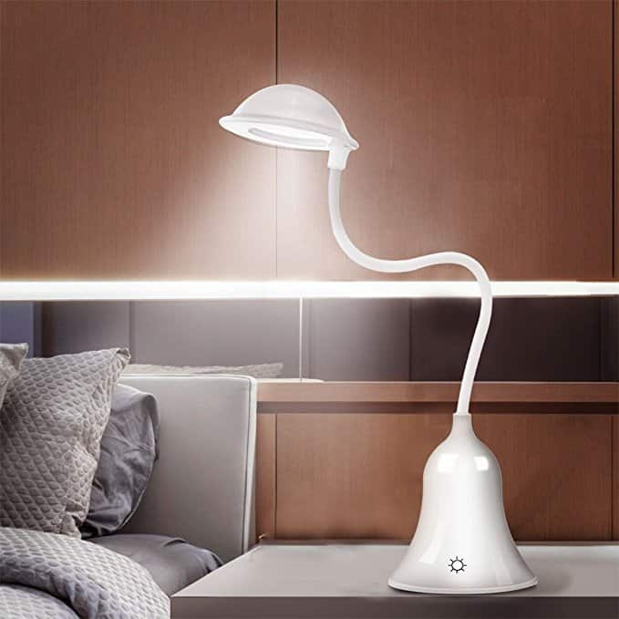Mushroom LED USB Rechargeable Desk Table Lamp  $5.99 @ Amazon