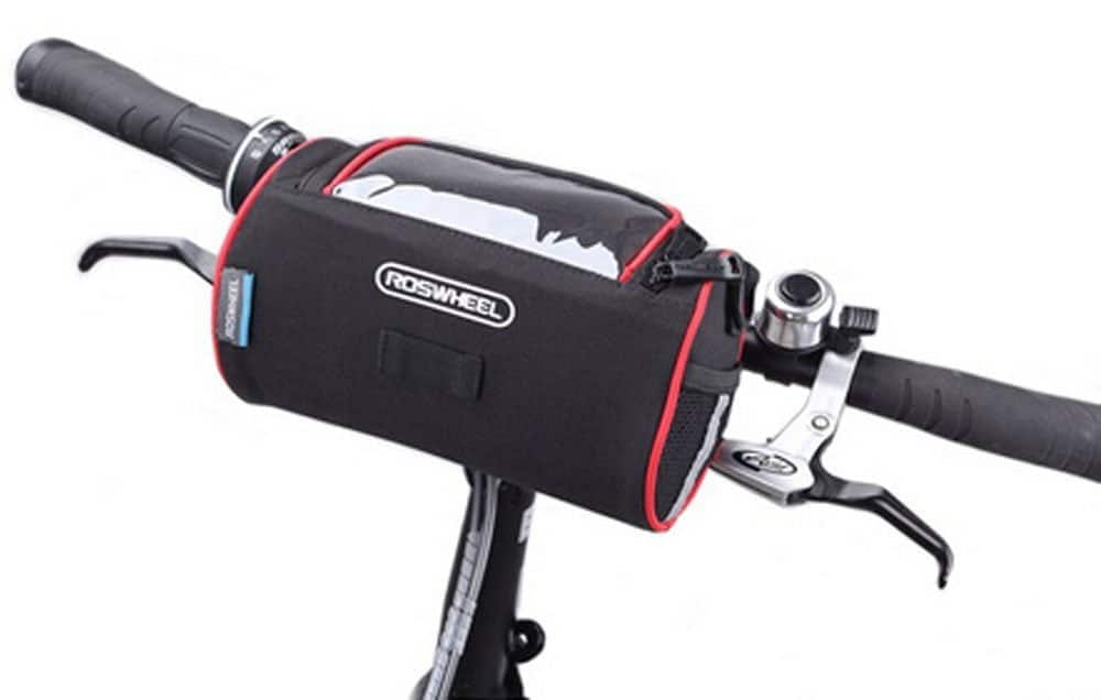 Bicycle Handlebar Pouch Holds Cell Phone and other stuff  $6.99 AC on Amazon