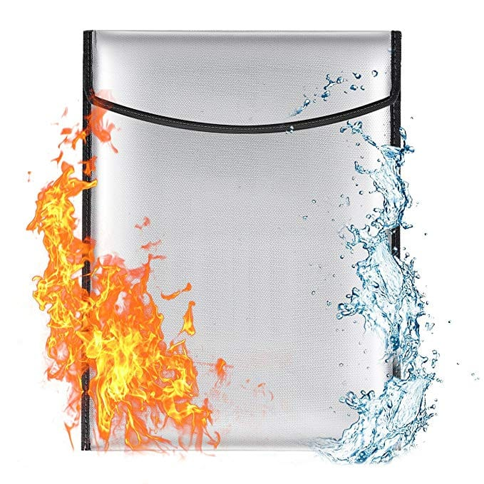 Fire and water resistant Document Bag $12.60 via Amazon