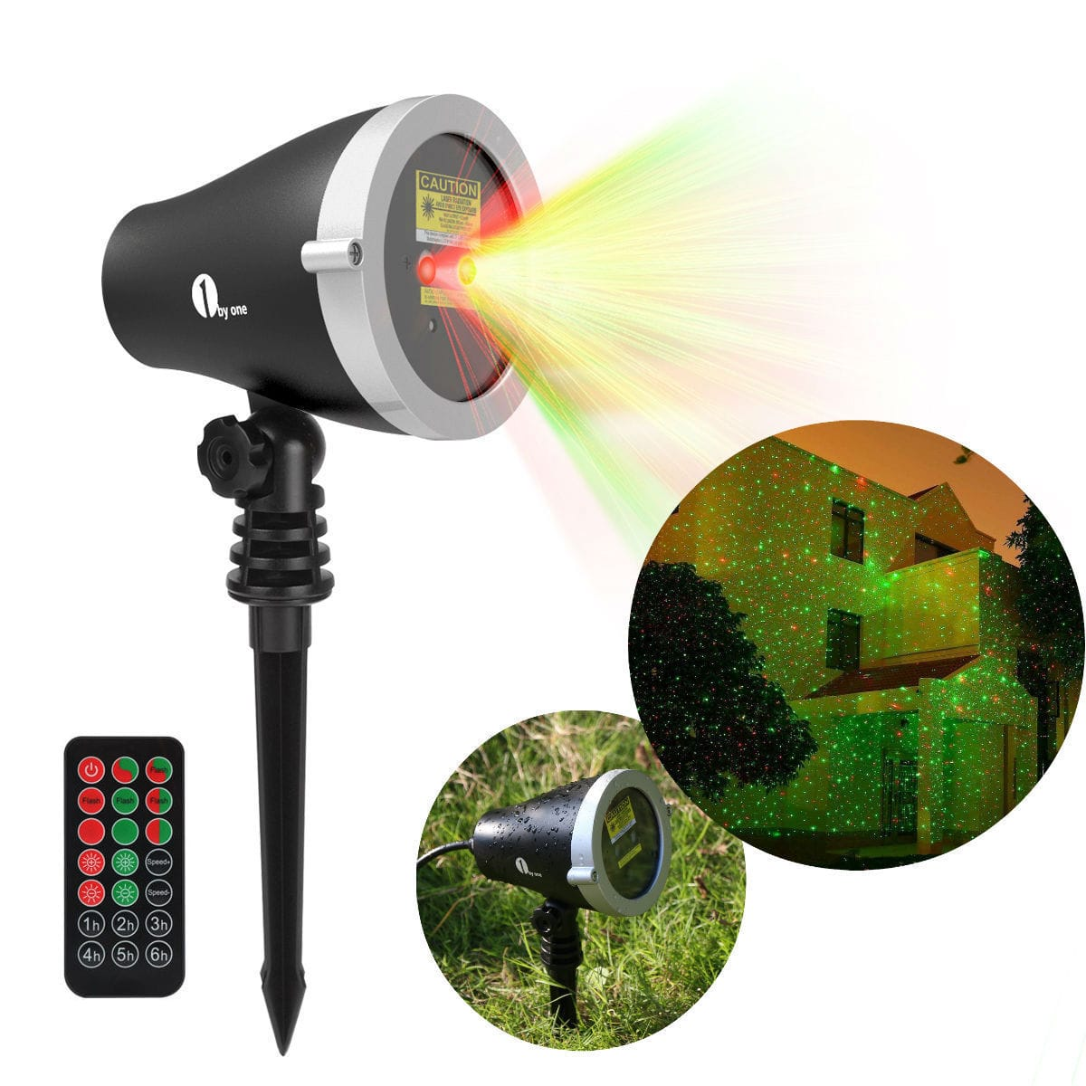 Laser Projector Stage Lights LED R&G Lighting for Christmas, Parties, backyard, etc. $20.00