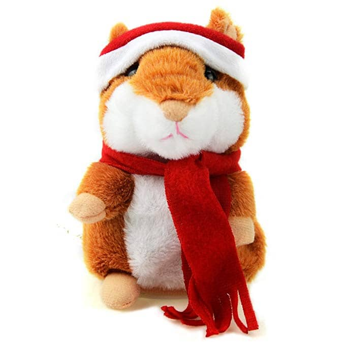 Talking Plush Talking Electronic Hamster in Santa Suit  Repeats What You Say $5.24 shipped via Amazon Prime