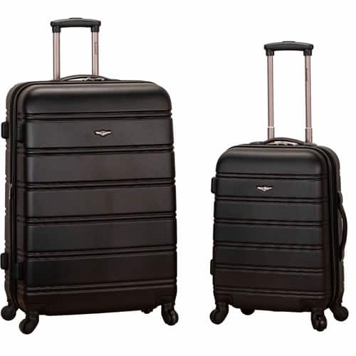 747135831 Walmart - $56.42 Rockland Luggage Melbourne 2-Piece Expandable ABS Spinner  Luggage Set - 20