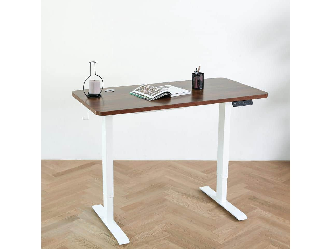 Elived 47x24 Inch Height Adjustable Standing Desk with Dual Motors plus $15 Newegg gift card $196.59