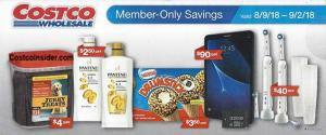Costco August 2018 Promotion and Coupons!