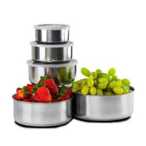 10 Piece : Home Collections BPA Free Stainless Steel Clear Storage Bowl Set $5.99 @Ebay with free Shipping