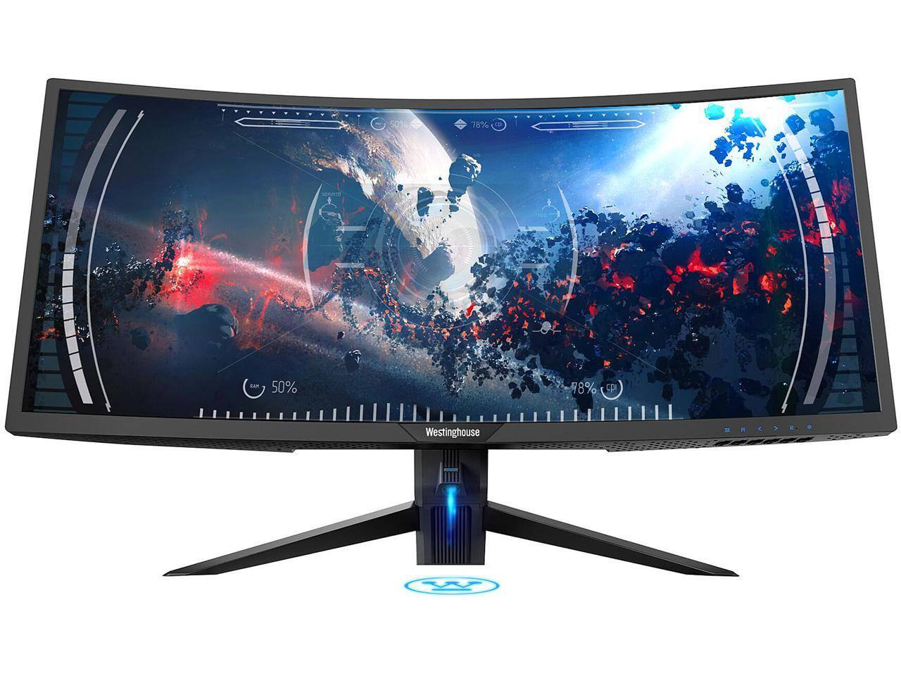 "Westinghouse WC34DX9019 34"" UWQHD 3440 x 1440 2K Resolution 100Hz AMD FreeSync Technology Flicker-Free Ultra Widescreen Curved Backlit LED Gaming Monitor $309.99 + FS"