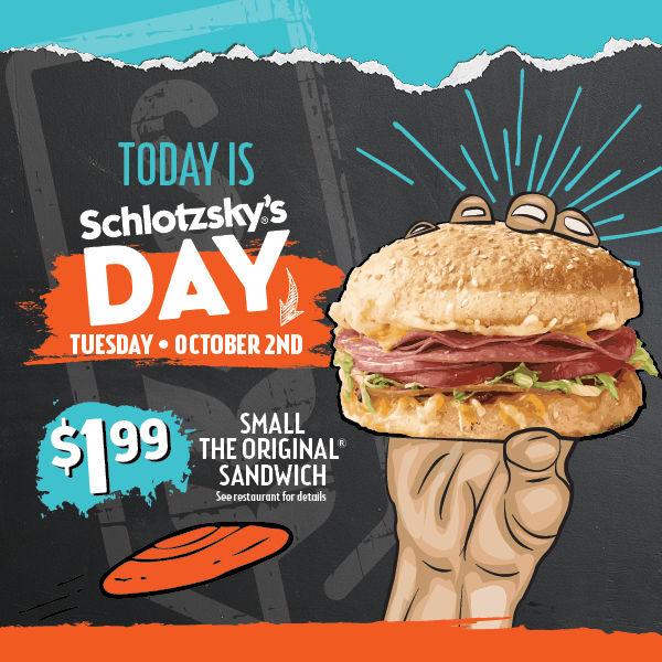 "Small ""The Original"" Sandwich ~ $1.99 @ Schlotzsky's ~ 10/2/18 Only"