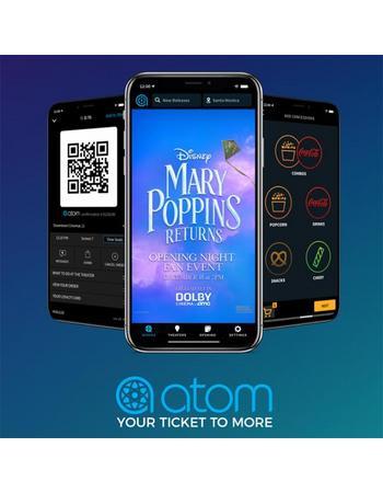 "Disney Movie Rewards: Ticket Code To Disney's ""Mary Poppins Returns"" Fan Event (Redeemable via Atom Tickets) ~ 1400 DMR Points"