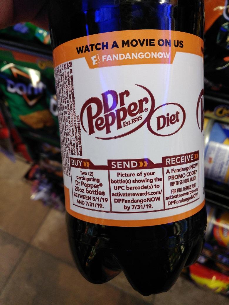 Free FandangoNOW $6 Rental Code w.y.b. 2x Dr Pepper 20oz Bottles ~ 5/1/19 - 7/31/19