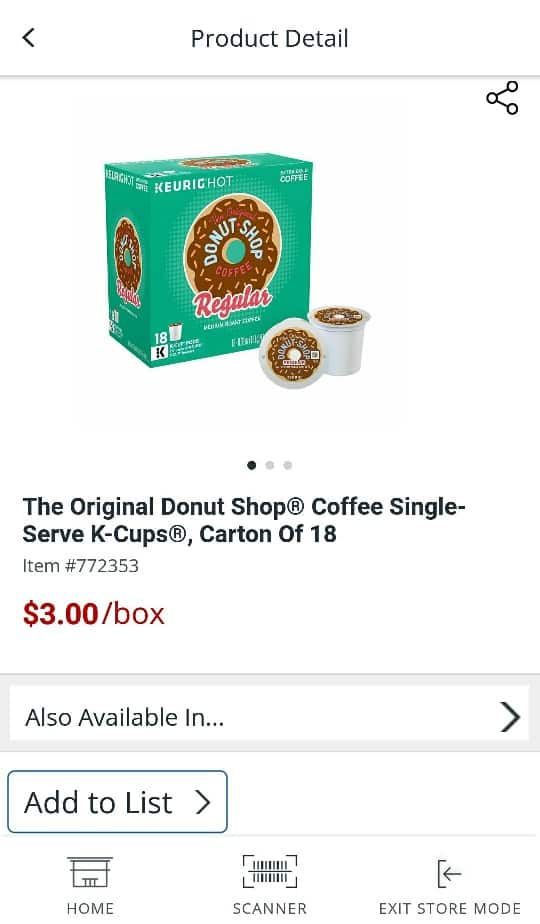 Select K-Cup Coffee, Tea & Hot Cocoa Pods (12-, 16- and 18-ct Cartons) ~ $2 to $4 (~75% Off) ~ In-Store Only @ Office Depot OfficeMax B&M (YMMV)