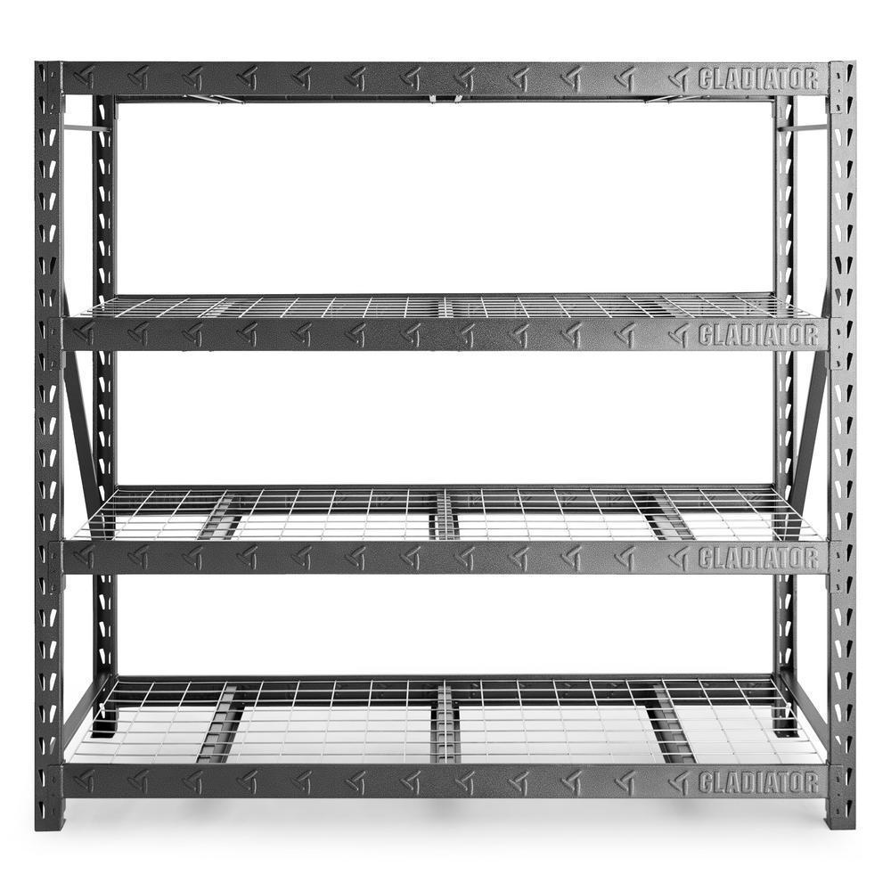 4-Shelf Gladiator Welded Steel Shelving Unit (8000lb Capacity) $138