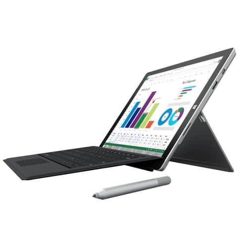 Microsoft Surface Pro 3 i7-4650U 8gb Ram 256gb SSD Win10 Bundle + Type Cover + 12mo Office 365 + Screen Protector $999 @ Costco.com