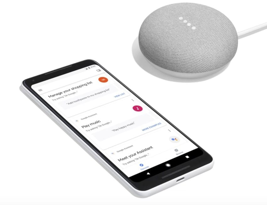 free google home mini with pixel 2 phone on Google fi