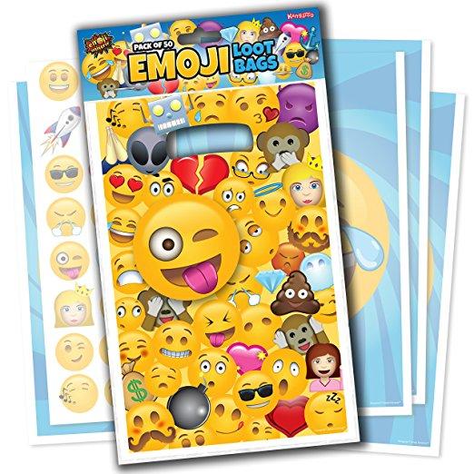 Emoji Universe: Emoji Loot Bags, Pack of 50; Trick or Treat Bags for Kids $.97 shipped via prime