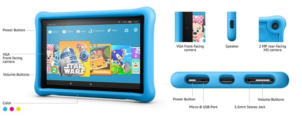 """2pk Fire HD 10 Kids Edition Tablet 10.1"""", 1080p, 1yr Freetime Unlimited, w/Kid-proof case $299 ($100 off) shipped Amazon"""