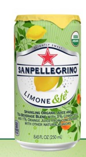 24pk 8.4oz Sanpellegrino Organic Lemon and Te $6 plus shipping Walmart