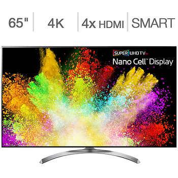 """LG 65"""" Class (64.5"""" Diag.) Super UHD 4K LED LCD TV Model #65SJ850A for $1149.99"""