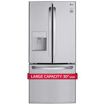 LG 22CuFt 3-Door French Door Refrigerator in Stainless Steel for $900 $899.99