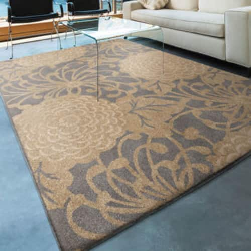 "Soft Impressions 100% Olefin Pile Rug Collection - Petal Patch Blue 5'3"" X 7'6"" for $80 $79.99"
