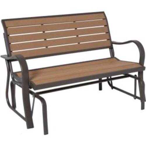 Lifetime Wood Alternative Glider Bench $130 $129.99