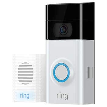 RING Video Doorbell 2 w/ Bonus Chime and 1 Year Ring Video Cloud Recording for $190 $189.99