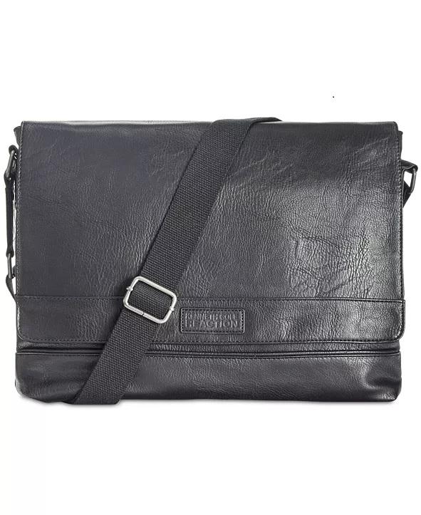 Kenneth Cole Reaction Men's Pebbled Messenger Bag $19.96