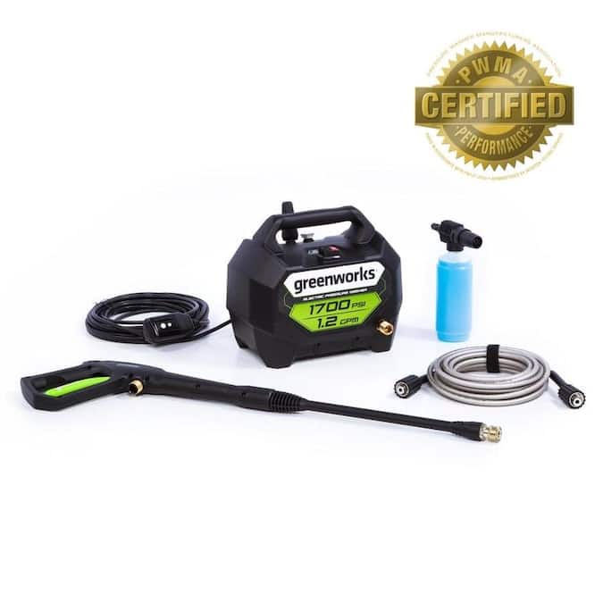 Greenworks 1700-PSI 1.2-GPM Cold Water Electric Pressure Washer $79 + Free Shipping
