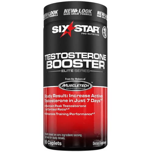 Six Star Testosterone Booster Supplement, Extreme Strength, Enhances Training Performance, Scientifically Researched, Maintain Peak Testosterone, 60 Caplets [60 Count] $6.18