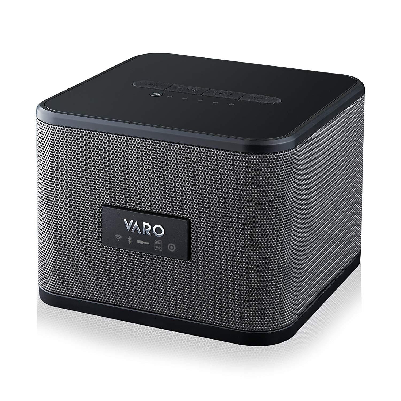 VARO Portable WiFi + Bluetooth Multi-Room Speaker, Cube, Black $17.99