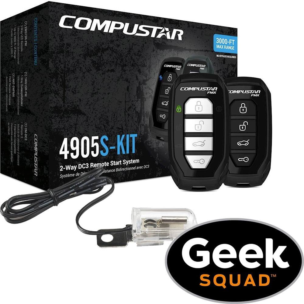 Compustar 2 Way Remote Start System Kit W Geek Squad Installation Starter Product Deal Image