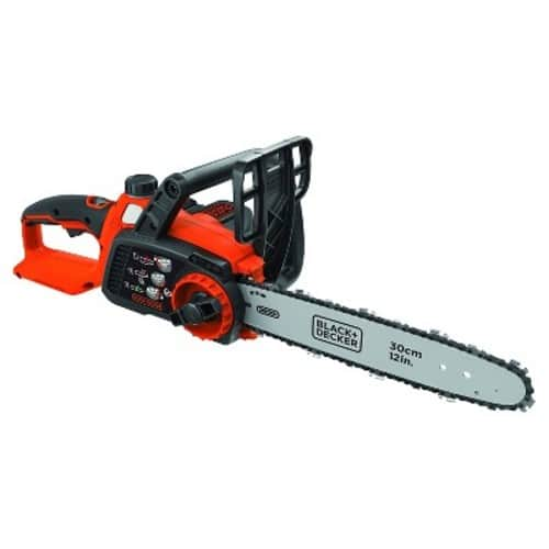 """BLACK+DECKER 40V MAX Lithium Chainsaw with 12"""" Oregon Bar and Chain and Tool Free Tensioning - Orange Sorbet $119.99"""