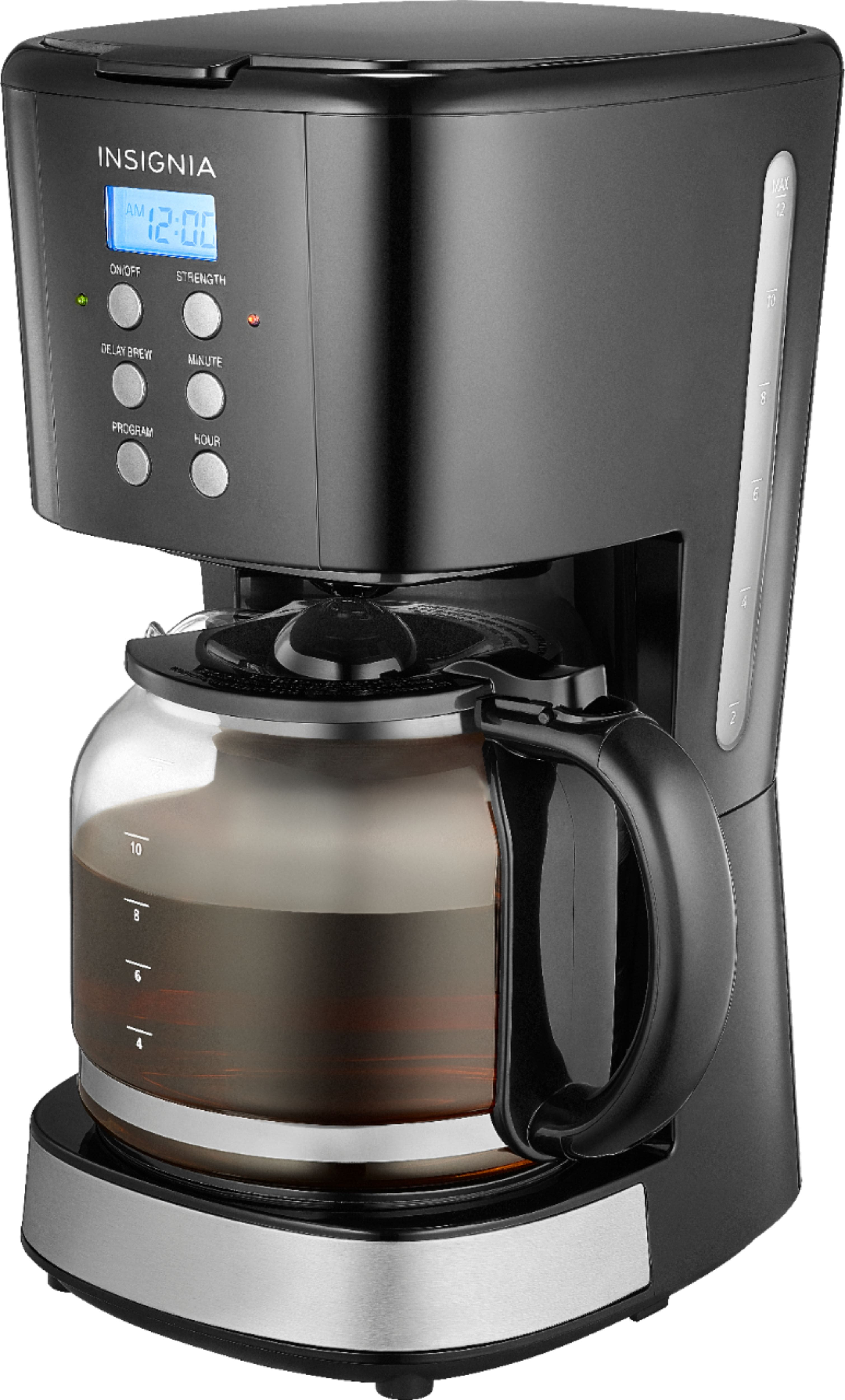 Insignia™ - 12-Cup Coffee Maker - Black $14.99, 10-Cup Stainless Steel $29.99
