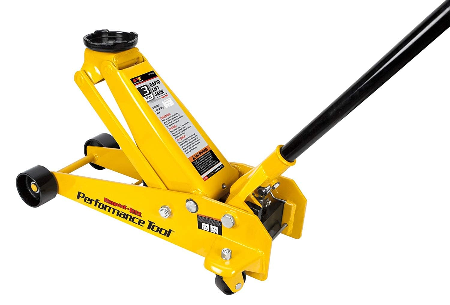 Performance Tool W1616 3 Ton (6,000 lbs.) Capacity Rapid Lift Floor Jack $112.11