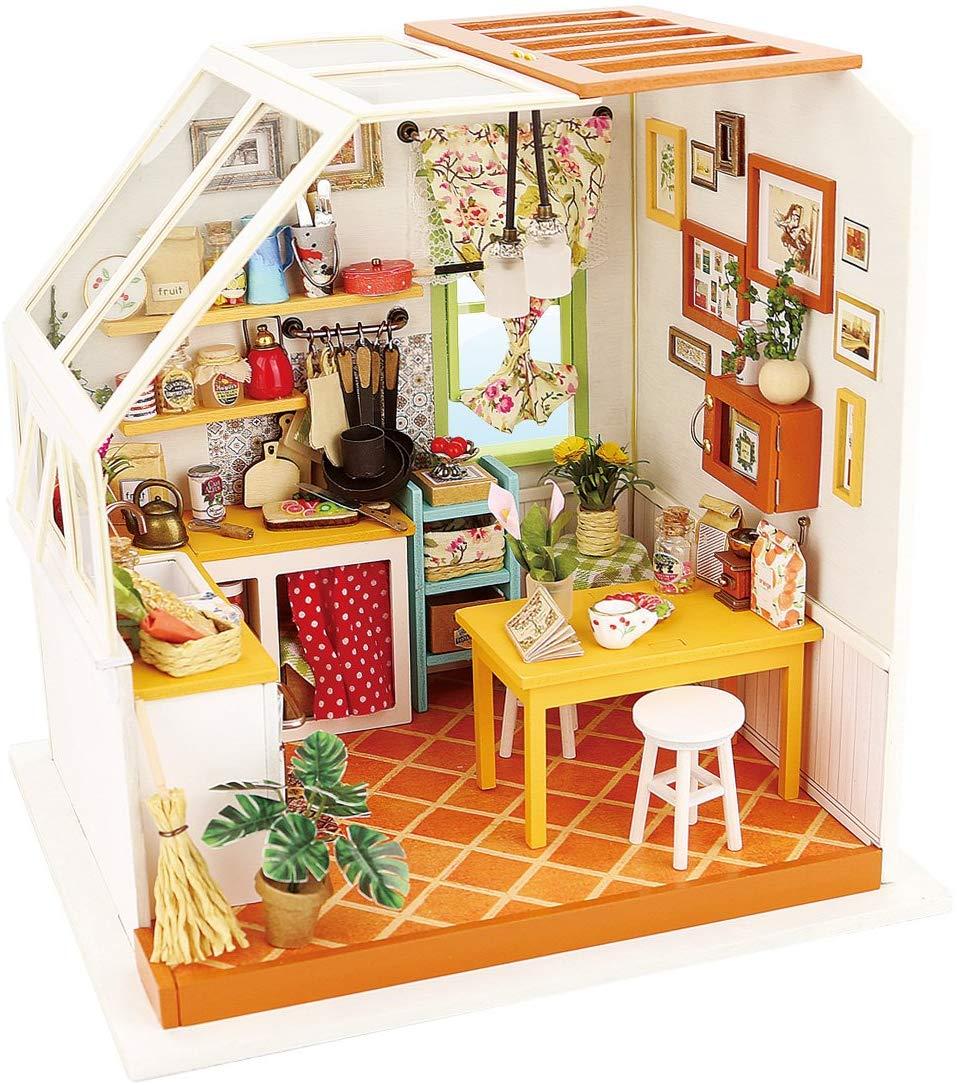 ROBOTIME Miniature Dollhouse Decoration Kit (Jason's Kitchen) $12 + Free Shipping
