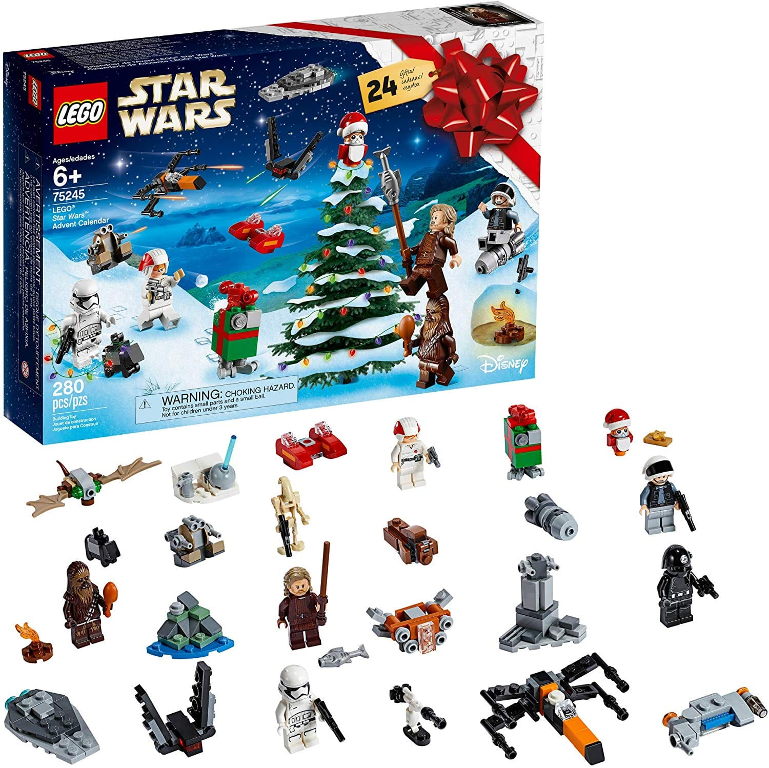 LEGO Star Wars 2019 Advent Calendar 75245 Holiday Gift Set Building Kit with Star Wars Minifigure Characters (280 Pieces) $29.99