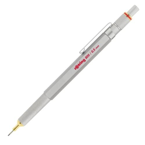 rOtring 1904449 800 Retractable Mechanical Pencil, 0.5 mm, Silver Barrel - $18.75 (or $13.75 each, if you buy 2)
