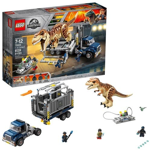 LEGO Jurassic World T. rex Transport 75933 Dinosaur Play Set with Toy Truck (609 Pieces) - Amazon/Walmart- $38.99