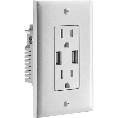 Insignia™ - 3.6A USB Charger Wall Outlet - White - BestBuy - $̶2̶9̶.̶9̶9̶ $9.99