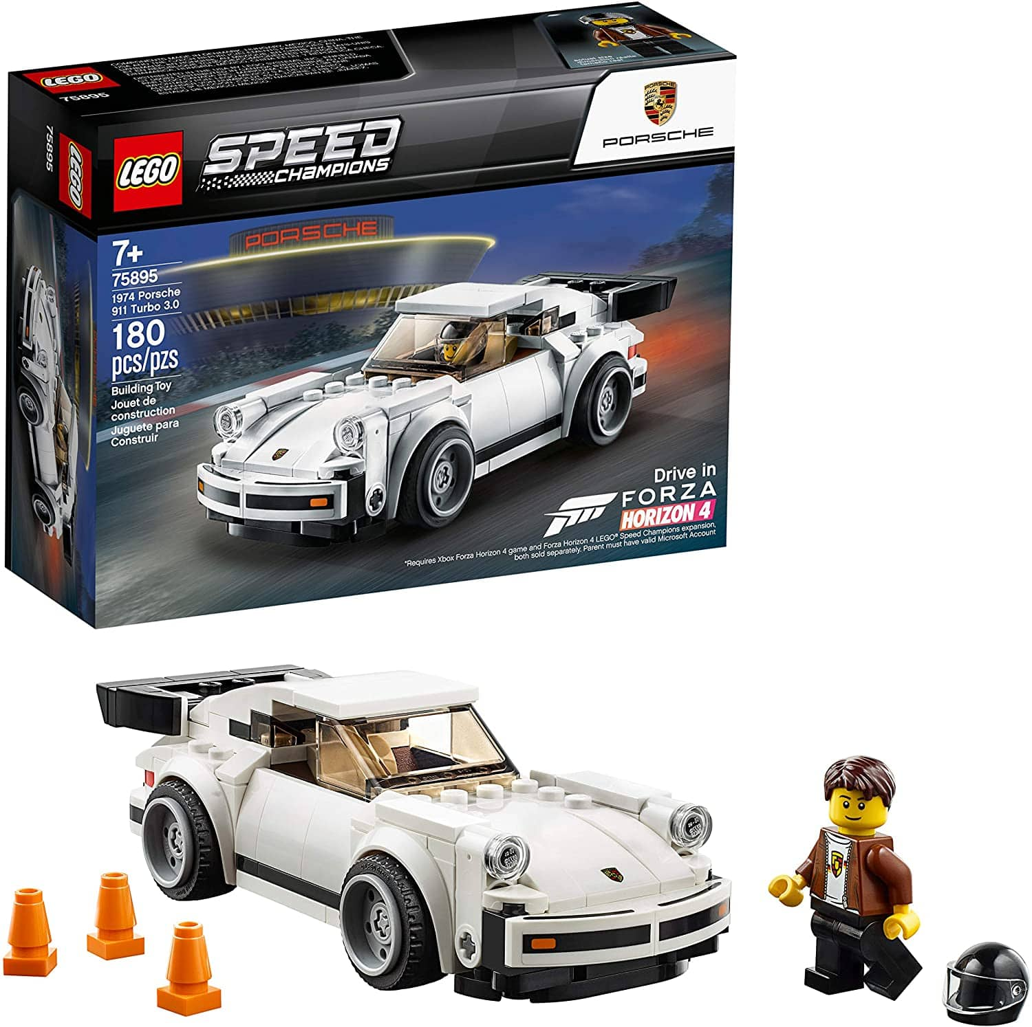 LEGO Speed Champions 1974 Porsche 911 Turbo 3.0 75895 Building Kit (180 Pieces) - Amazon, Walmart - $11.99