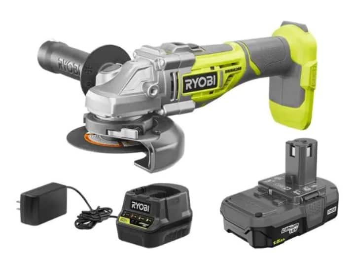 Ryobi ONE+ 18V - P423 Brushless Grinder, battery, charger, type 1 & 27 guards w/free deliveryy $97