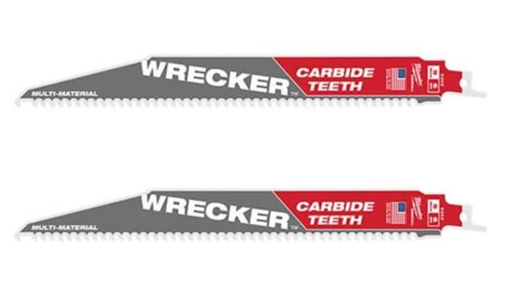 9 in. 6 TPI WRECKER Carbide Teeth Multi-Material Cutting SAWZALL Reciprocating Saw Blade (2-Pack) $12.97
